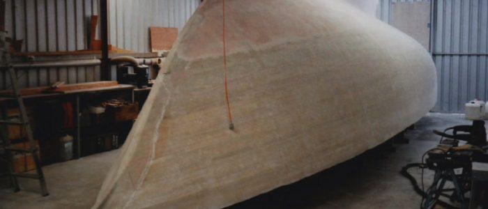 glassed hull